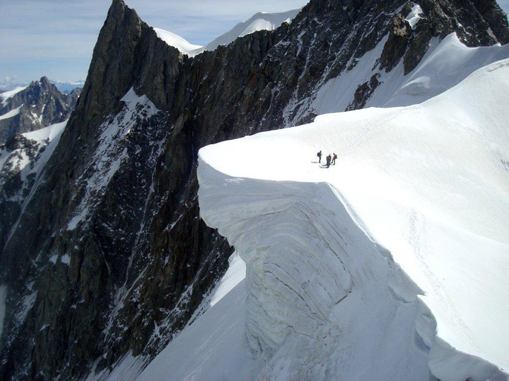 Sulla grande meringa della Cresta di Rochefort nel Gruppo del Monte Bianco