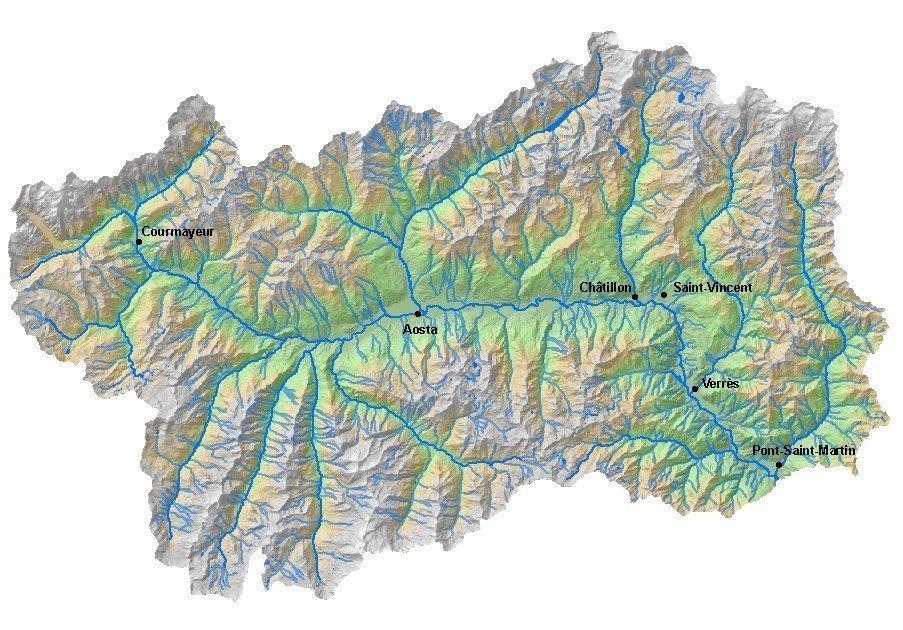 Cartina Fiumi Valle D Aosta.L Asse Della Dora Baltea E I Suoi Affluenti Vie Normali Valle D Aosta