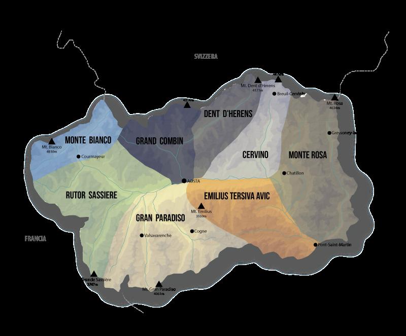 Cartina Valle D Aosta Dettagliata.Vie Normali Valle D Aosta Il Progetto 1226 Cime 8 Anni 1 Collana